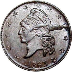 1863 New York City Civil War Token Broas Bros Massive Die Crack Mint Error