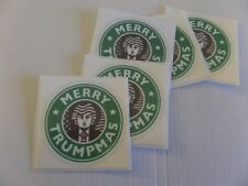Donald Trump, Merry Trumpmas, Lot of 5, Holiday Adhesive Sticker, place anywhere