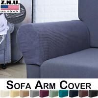 Removable Stretch Sofa Armrest Slip On Covers Arm Chair Protector Couch Protect
