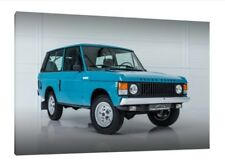 1970 RANGE ROVER 2 door - 30x20 Inch Toile-Framed Picture Print Land Rover