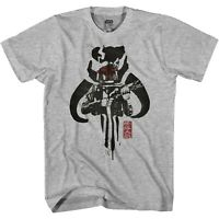 Star Wars Inky Fetters Mandalorian Adult Tee Graphic T-Shirt for Men Tshirt