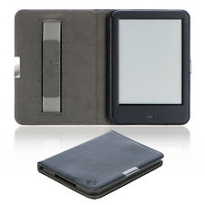 Flip Tasche für Tolino Shine 2 HD Leder-Imitat Schwarz Case Schutzhülle Etui