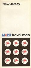 1971 MOBIL OIL Road Map NEW JERSEY Trenton Newark Camden Atlantic City Cranford