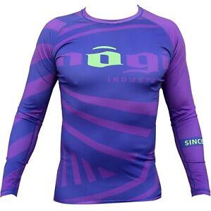 Purple Exeter Grappling Jiu-jitsu Rashguard Exeter Nogi Industries Long Sleeve