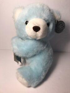 Vintage Princess Soft Toys Blue Powder Hugger Bear with Tags NOS