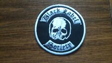 BLACK LABEL SOCIETY,IRON ON WHITE CIRCULAR EMBROIDERED PATCH