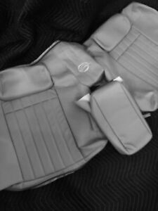 1994-1996 Impala SS Gray Leather Rear Seat Back w/Embroidery and Arm Rest