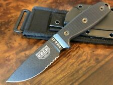 ESEE Knives 3 Military Black Blade Serrated G10 Black Sheath ESEE-3MIL-S-BLK