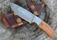 "Custom Handmade Damascus Steel Hunting, EDC knife 8"" Full Tang wood Handle wd008"