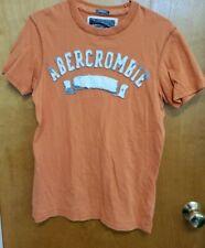 men's small muscle orange abercrombie short sleeve top