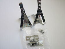 """NOS CHRISTOPHE """"D"""" PEDAL TOE CLIPS SMALL - WITH MOUNTING HARDWARE"""