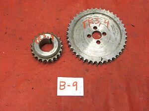 Triumph TR3,TR4,Morgan, Original Dual Timing Chain Gears, GC!!
