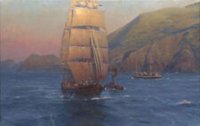 """""""Sunrise in the Golden Gate: Benjamin F. Packard"""" Christopher Blossom Canvas"""