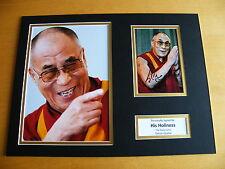HIS HOLINESS DALAI LAMA SIGNED AUTOGRAPH 16x12 PHOTO MOUNT TENZIN GYATSU  & COA