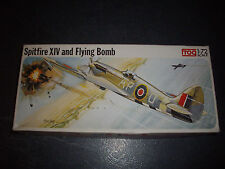 FROG  SPITFIRE XIV AND FLYING BOMB  PLASTIC MODEL 1/72