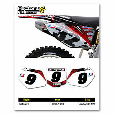 1998-1999 HONDA CR 125 Number Plate Dirt Bike Graphics Solitaire By Enjoy MFG