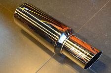 NEW JDM Blitz Nur Spec Exhaust muffler MPP803 80mm piping 300mm body lenght