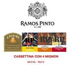 PORTO RAMOS PINTO CASSETTINA CON 4 MIGNON DA 9 CL LAGRIMA WHITE RESERVE COLLECT.