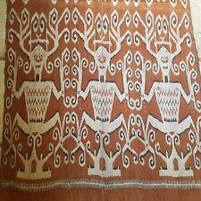 Antique Dayak Sarawak Ceremonial Textile Ikat Pua Woven Textile Spirit Ancestor