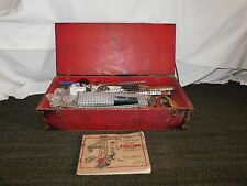 "VINTAGE TOY 1920-30S GILBERT ERECTOR SET IN 25 1/2"" X 11"" WOOD  BOX"