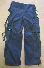 NEW Vintage Cargo Combat 90s Grunge Navy Techno Tassel Trousers Size S/M/L/XL