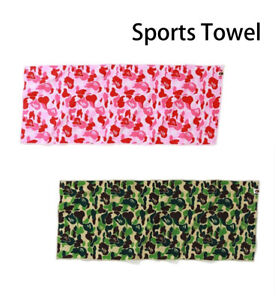 A BATHING APE Goods ABC CAMO SPORTS TOWEL Green / Pink Best Buy New