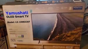 "Yamushati OLED Smart Flat Screen TV HDTV Flatscreen 50"" Television"