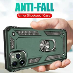 Armor Shockproof iPhone 11 Pro Max Case Plus Magnetic Ring Bracket