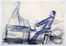 Der Pianist am Flügel, Aquarell 1989, Gerhard Elsner 1930 Senftenberg - 2017