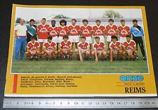 CLIPPING POSTER FOOTBALL 1987-1988 D2 STADE REIMS CHAMPAGNE AUGUSTE-DELAUNE