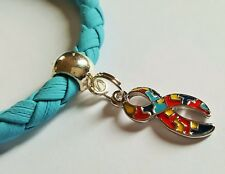 Awareness Jigsaw Ribbon Charm Faux Leather Bracelet withAutism