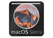 """macOS Sierra 1""""x1"""" Chrome Effect Domed Case Badge / Sticker Logo"""