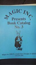 Magic Inc Presents Book catalog No.3