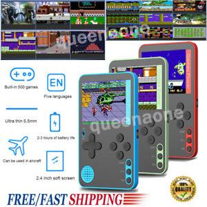 2.4'' Mini Handheld Retro Video Game Console Built-in 500 Classic Games Console✅