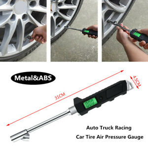 Car Motorcycle Truck LCD Precision Tire Tyre Air Pressure Gauge With Lighting