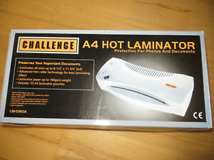 CHALLENGE A4 hot laminator for photos, documents,etc new boxed
