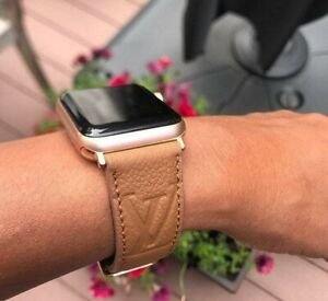 Handmade Louis Vuitton Apple watch band Series 6,5,4,3,2