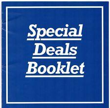 FORD FIESTA ESCORT ORION MONDEO offerte speciali in ritardo 1993 UK Opuscolo del mercato