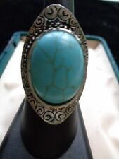 Turquoise Statement Fashion Rings