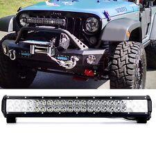 "20""IN CREE LED Light Bar 126W Flood Spot Combo Fog Off-road 4WD ATV SUV 22"" 24"""