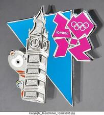 OLYMPIC PIN BADGE 2012 LONDON ENGLAND UK  MASCOT WENLOCK  WITH BIG BEN CLOCK