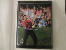 "TIGER WOODS WINS THE 2008 U. S. OPEN ACTION  PHOTO MOUNTED ON A 9"" X 12"" PLAQUE"