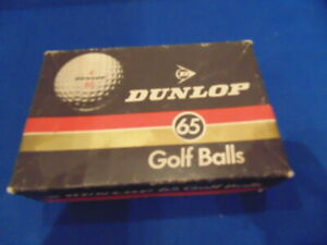 Vintage Boxed New Unused Dunlop Sixty Five / 65 Golf Balls (2 Packs of 3)