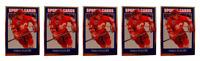 (5) 1992 Sports Cards #26 Theo Fleury Hockey Card Lot Calgary Flames