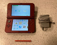 New Nintendo 3DS XL (Red) with Stylus & Charger