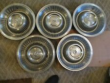 "GENTLY USED 1963/64 CADILLAC 15 "" WHEELCOVER SET/FIVE CLEAN/HOLLANDER #CAD 63-64"