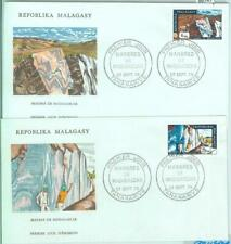 86747 - MADAGASCAR - POSTAL HISTORY - Set of 2  FDC COVERS 1974 - MINERALS