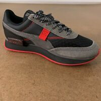PUMA Boys Shoe Size 4.5 Black Gray Red Future Rider Fairgrounds Sneaker NWOT