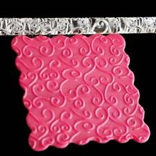 Textured Embossing Acrylic Rolling Pin Fondant Flower Vine Cake Roller Non-stick