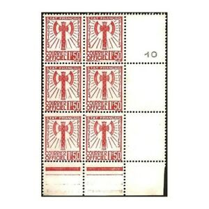 SERVICE N°8 NEUFS FEUILLET 6 TIMBRES